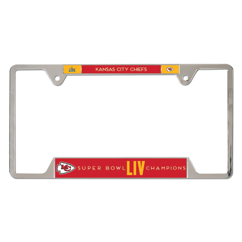 Kansas City Chiefs Super Bowl LIV Champions Metal License Plate Frame - Fan Shop TODAY