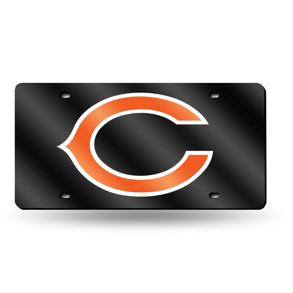 Bears NFL Mirror License Plate (Black) - Fan Shop TODAY