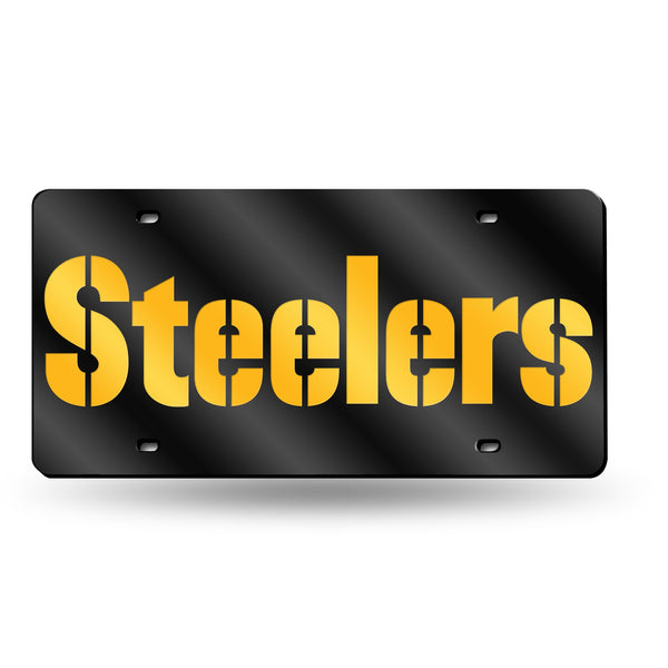 Pittsburgh Steelers Wordmark NFL Mirror License Plate - Fan Shop TODAY