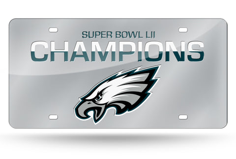 Philadelphia Eagles License Plate Laser Tag Super Bowl 52 Champions - Fan Shop TODAY