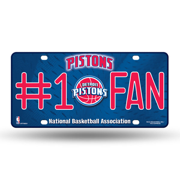 Pistons NBA Metal License Plate #1 FAN - Fan Shop TODAY