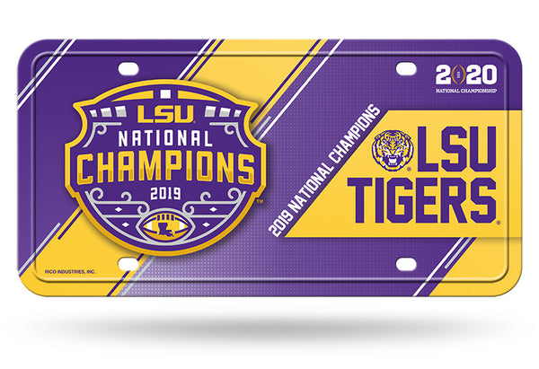 LSU Tigers National Champions Metal License Plate - Fan Shop TODAY