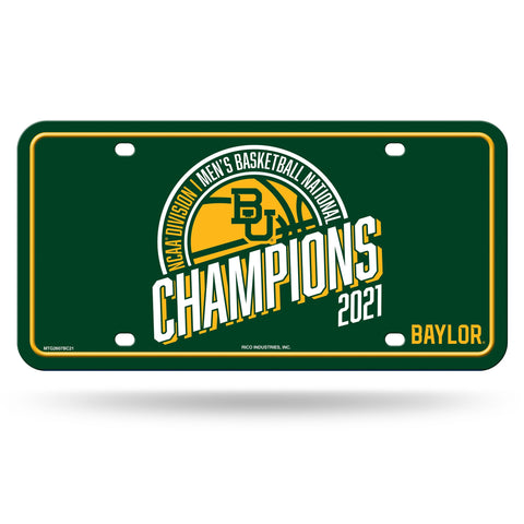 Baylor Bears 2021 NCAA National Champions Metal License Plate - Fan Shop TODAY