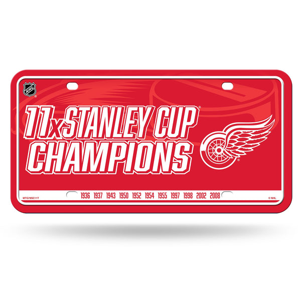 Detroit Red Wings 11x Time Stanley Cup Champions Metal License Plate - Fan Shop TODAY
