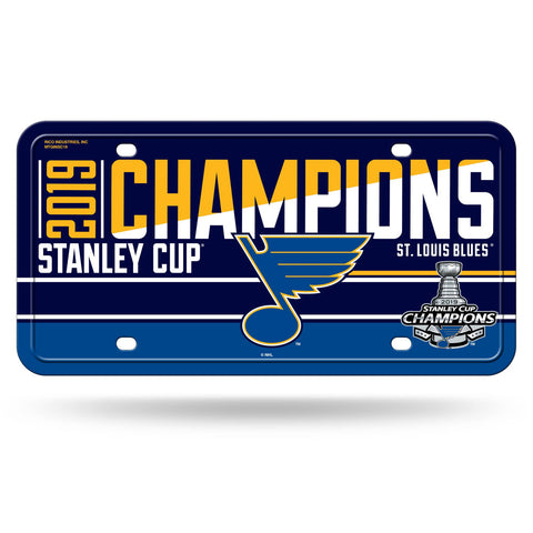 St. Louis Blues 2019 Stanley Cup Champions Metal Tag License Plate - Fan Shop TODAY