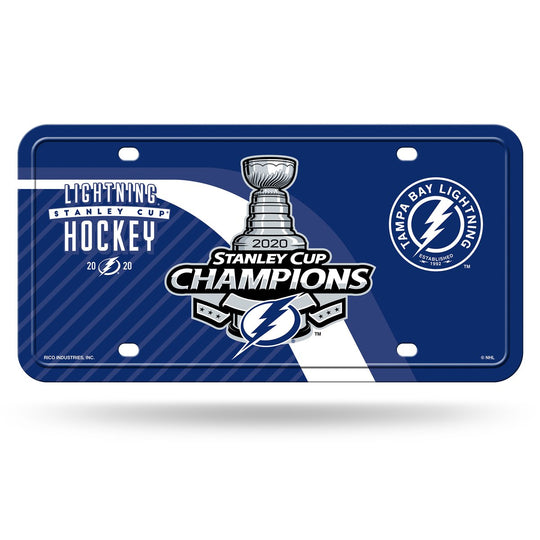 Tampa Bay Lightning 2020 Stanley Cup Champions Metal Tag License Plate - Fan Shop TODAY