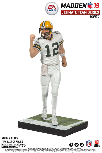 Green Bay Packers Aaron Rodgers EA Sports Madden NFL 19 Ultimate Team Series 1 McFarlane - Fan Shop TODAY