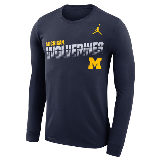 Michigan Wolverines Nike Sideline Line of Scrimmage Long Sleeve T-Shirt - Fan Shop TODAY