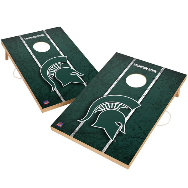 Michigan State Spartans 2' x 3' Solid Wood Cornhole Board Set - Fan Shop TODAY