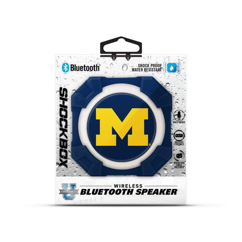Michigan Wolverines NCAA Shockbox LED Wireless Speaker - Fan Shop TODAY