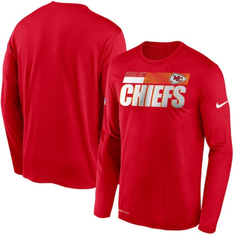 Kansas City Chiefs Nike Sideline Impact Performance Long Sleeve T-Shirt - Fan Shop TODAY