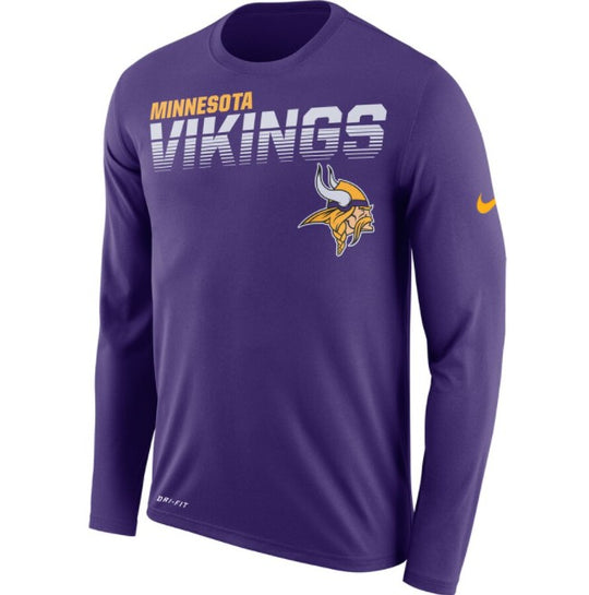 Minnesota Vikings Nike Sideline Line of Scrimmage Long Sleeve T-Shirt - Fan Shop TODAY