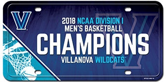 Villanova Wildcats 2018 NCAA Men's Basketball National Champions Metal License Plate - Fan Shop TODAY