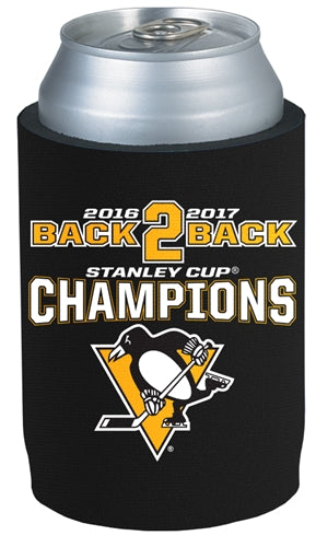 Penguins NHL 2017 Stanley Cup Champions BACK TO BACK - Can Cooler - Fan Shop TODAY