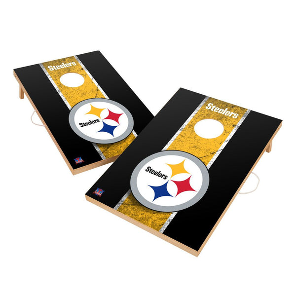 Pittsburgh Steelers 2' x 3' Solid Wood Cornhole Board Set - Fan Shop TODAY