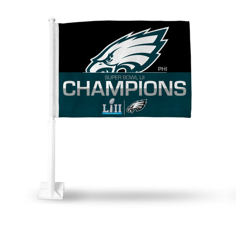 Philadelphia Eagles Super Bowl LII Champions Car Flag - Fan Shop TODAY
