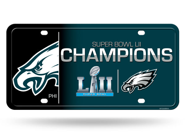 Philadelphia Eagles Super Bowl LII Champions Metal License Plate - Fan Shop TODAY