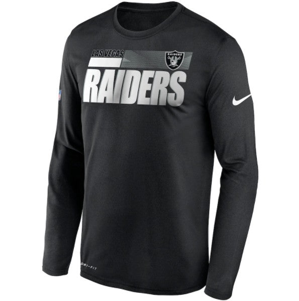 Las Vegas Raiders Nike Sideline Impact Performance Long Sleeve T-Shirt - Fan Shop TODAY