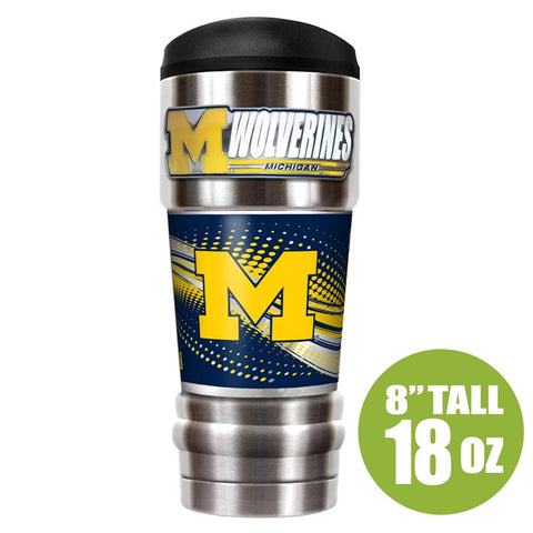 Wolverines NCAA 18oz Vacuum Insulated Tumbler - Fan Shop TODAY