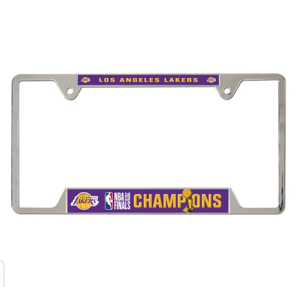 Los Angeles Lakers 2020 NBA Champions Metal License Plate Frame - Fan Shop TODAY