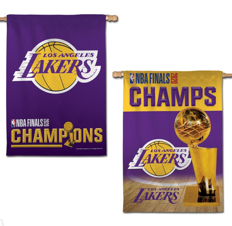 "Los Angeles Lakers 2020 NBA Champions Flag 28"" x 40""' - Fan Shop TODAY"