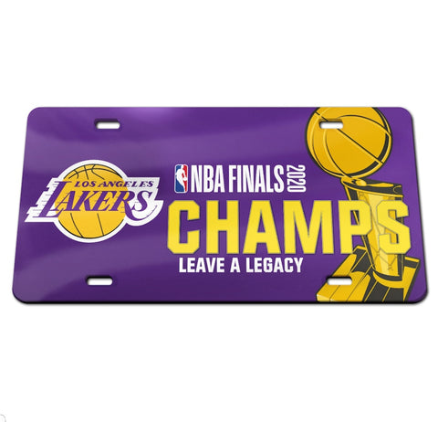Los Angeles Lakers 2020 NBA Champions Laser Cut License Plate - Fan Shop TODAY