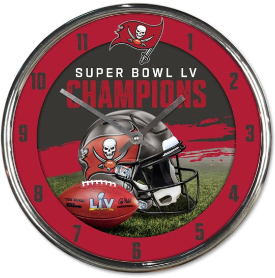 Tampa Bay Buccaneers Super Bowl LV Champions Chrome Wall Clock - Fan Shop TODAY