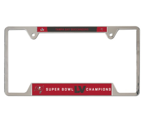 Tampa Bay Buccaneers Super Bowl LV Champions License Plate Frame - Fan Shop TODAY