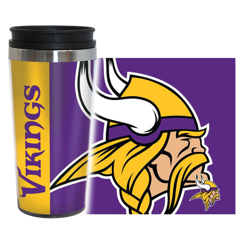 Vikings NFL 16 oz. Hype Travel Tumbler - Fan Shop TODAY