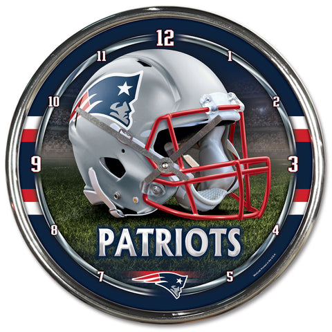 Patriots NFL Chrome Wall Clock - Fan Shop TODAY