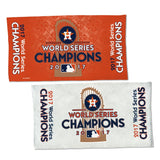 Houston Astros 2017 World Series Champions On Field Celebration Locker Room Towel - Fan Shop TODAY