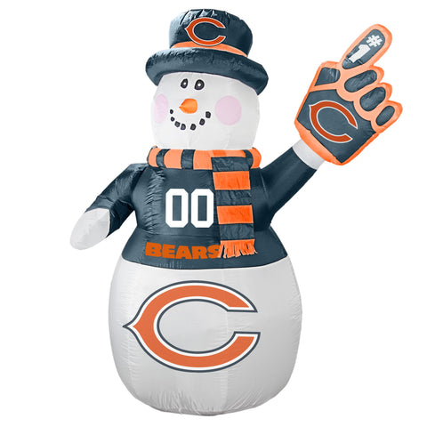 Chicago Bears NFL Inflatable Snowman 7' - Fan Shop TODAY