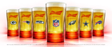 Budweiser Red Light NFL Touchdown Synced Glass 14oz. - Fan Shop TODAY
