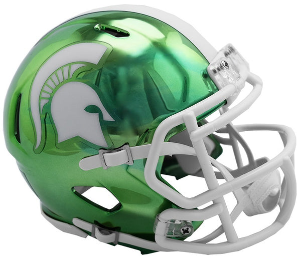 Michigan State Spartans Riddell Chrome Alternative NCAA Helmet 2018 - Fan Shop TODAY