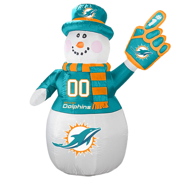 Miami Dolphins NFL Inflatable Snowman 7' - Fan Shop TODAY