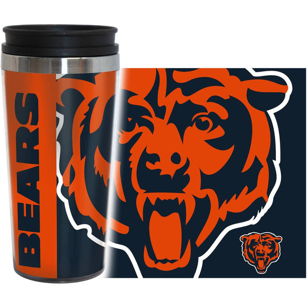 Bears NFL 16 oz. Hype Travel Tumbler - Fan Shop TODAY