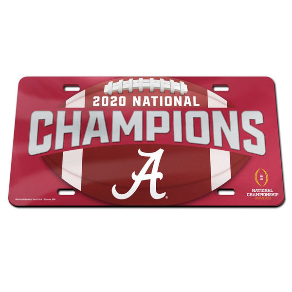 Alabama Crimson Tide 2020 National Champions Laser Acrylic License Plate - Fan Shop TODAY