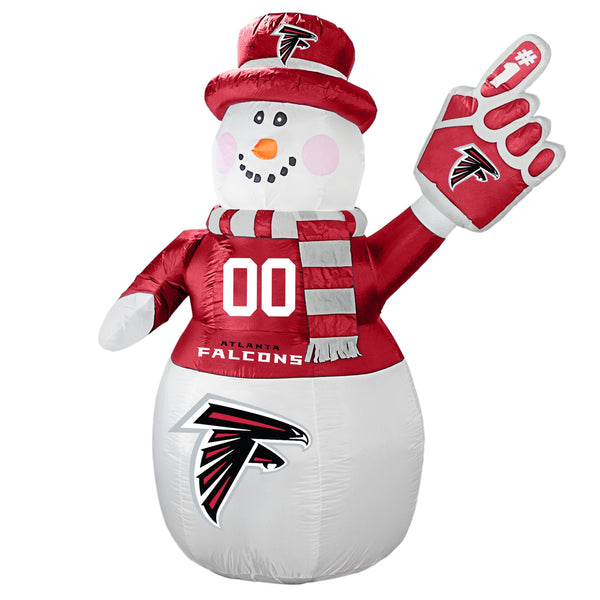 Atlanta Falcons NFL Inflatable Snowman 7' - Fan Shop TODAY