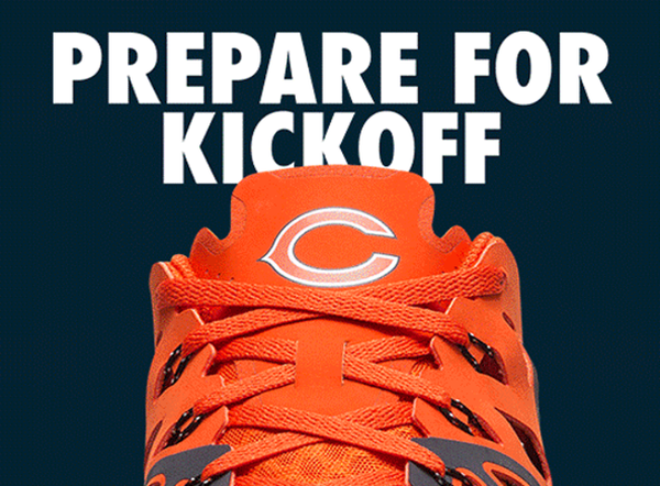 Chicago Bears Nike NFL Kickoff Collection Speed 4 AMP Training Shoe - Fan Shop TODAY