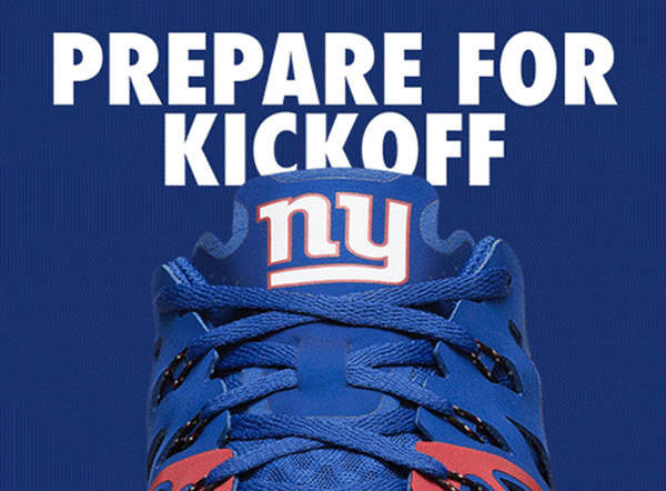 Giants Nike NFL Kickoff Collection Speed 4 AMP Training Shoe - Fan Shop TODAY