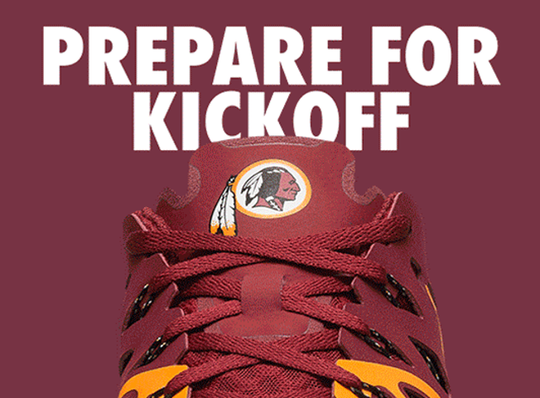 Redskins Nike NFL Kickoff Collection Speed 4 AMP Training Shoe - Fan Shop TODAY