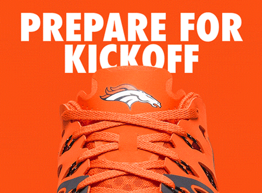 Denver Broncos Nike Train Speed 4 Shoes - Fan Shop TODAY