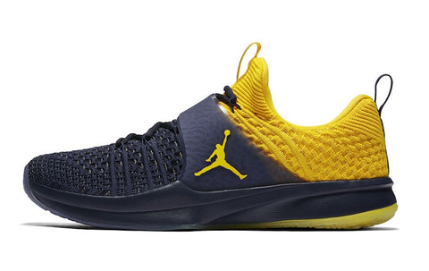 0befe8aa7f65 Michigan Wolverines Nike AIR Jordan Trainer 2 Flyknit Training Shoes - Fan  Shop TODAY