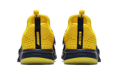 Michigan Wolverines Nike AIR Jordan Trainer 2 Flyknit Training Shoes aa42cc28a