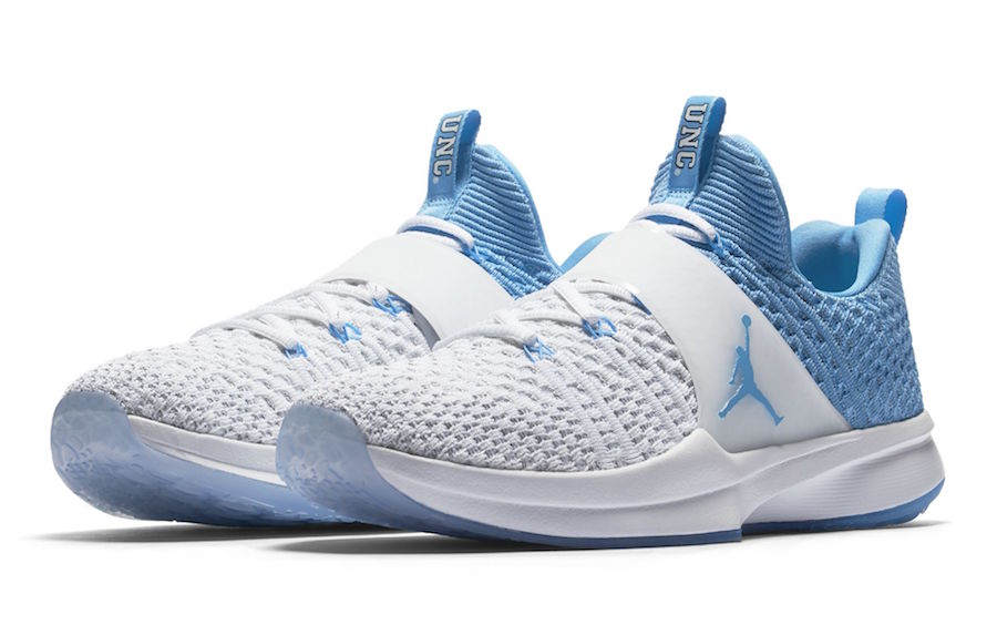 North Carolina Tar Heels Nike AIR Jordan Trainer 2 Flyknit Training Shoes cd82906f8