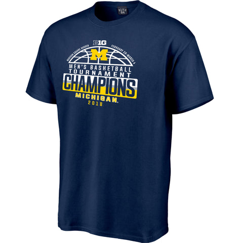 Michigan Wolverines 2018 Big Ten Men's Basketball Conference Champions T-Shirt - Fan Shop TODAY