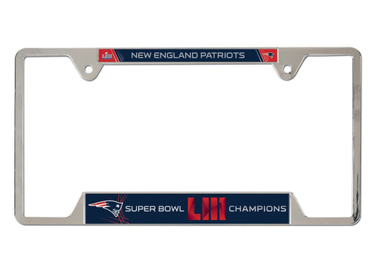 New England Patriots Super Bowl LIII Champions License Plate Frame - Fan Shop TODAY
