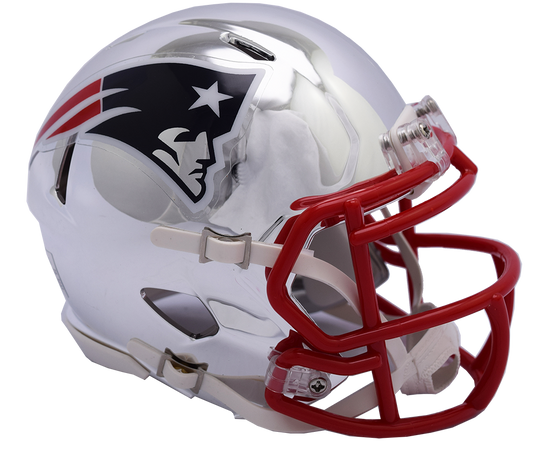 New England Patriots Riddell Mini-Speed Chrome Alternate Helmet - Fan Shop TODAY