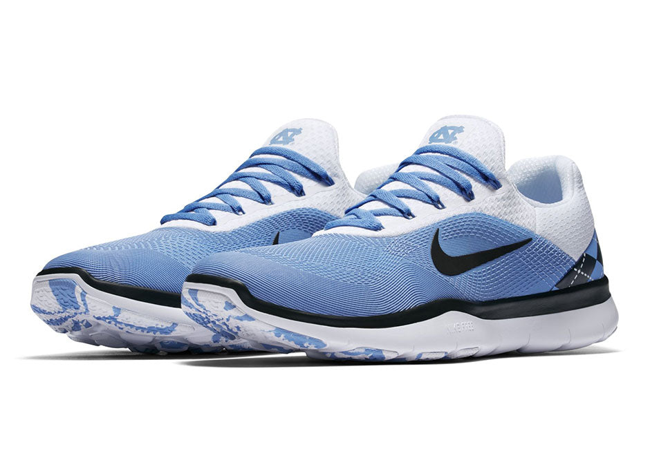 new style 9465e fe13f North Carolina Tar Heels Nike Free Trainer V7 Week Zero Shoes