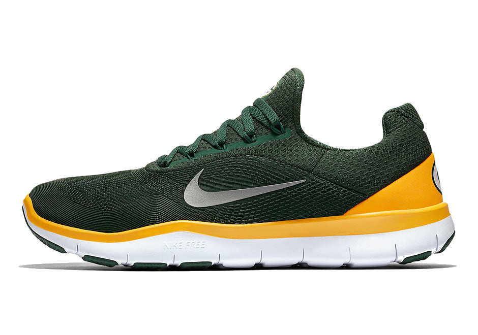 online retailer 4d7e4 6c843 Green Bay Packers Nike NFL Free Trainer V7 Week Zero Shoes